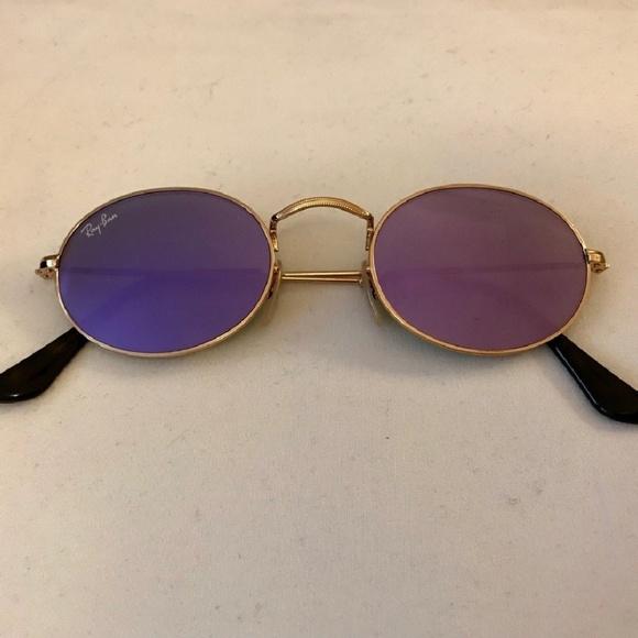 e7a8ffc7e Ray-Ban Accessories | Rayban Oval Flat Purple Flash Lens | Poshmark